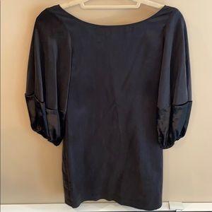 Elizabeth and James Scoop Black Silk Dress Size 0